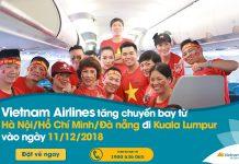 Vietnam Airlines cung ứng hơn 1.100 chỗ trên các chuyến bay Việt Nam- Malaysia