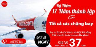 Kỷ niệm 17 Cùng Air Asia tận hưởng du lịch chỉ từ 37 USD