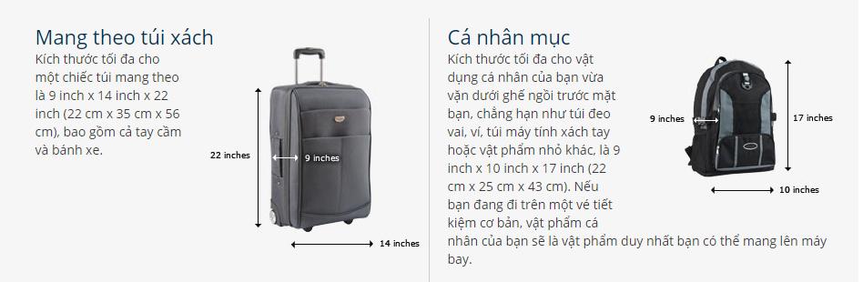 Hành lý xách tay United Airlines