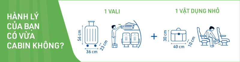 kích thước hành lý xách tay bamboo airways