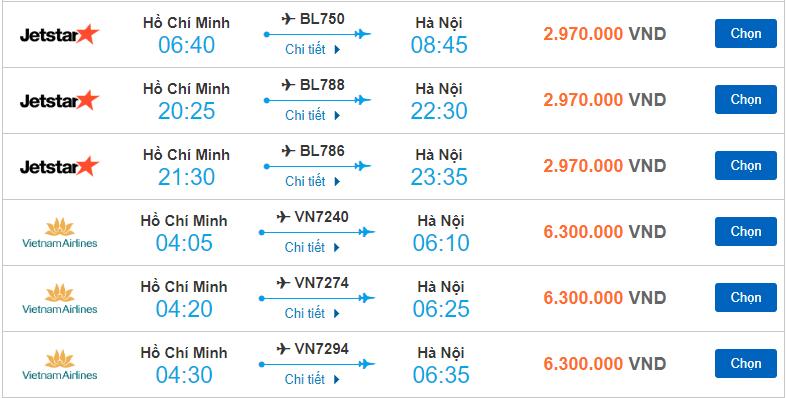 Giá vé máy bay Tết từ 30/1 đến 03/2