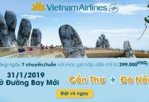 Vietnam Airlines mở đường bay Đà Nẵng – Cần Thơ chỉ 299.000 Đ/chiều