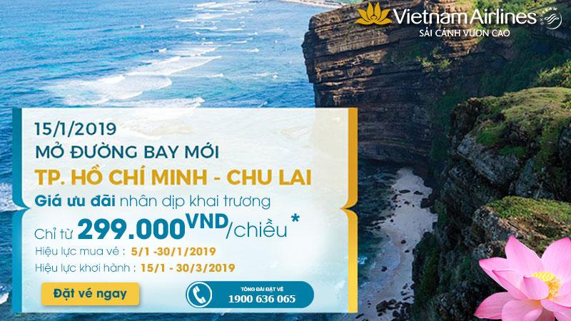 Mở bán đường bay Hồ Chí Minh – Chu Lai chỉ 299.000 VNĐ