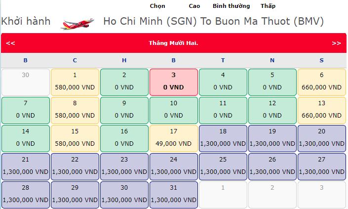 Khuyến mãi hành trình Hồ Chí Minh đi Buôn Mê Thuật