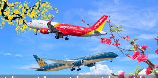 Giá vé máy bay Tết 2019 của các hãng hàng không