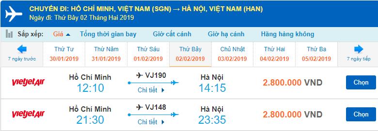 Giá vé máy bay Tết của Viejet