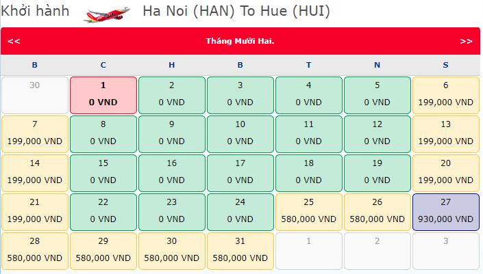 Giá vé máy bay chào xuân yêu thương từ Vietjet Air hành trình Hà Nội Huế