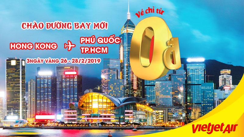 khuyến mãi 0 đồng mừng hành trình mới Hong Kong - Phú Quốc