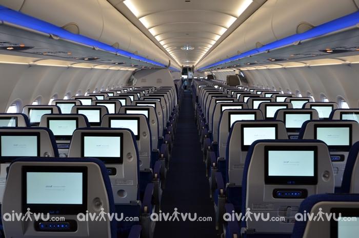 Bên trong khoang phổ thông máy bay A321 neo ANA Airways