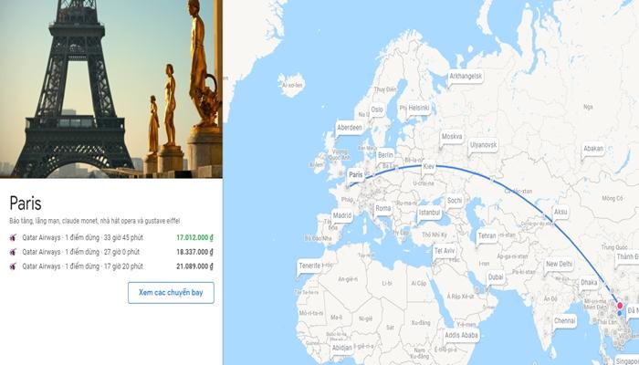 Khám phá bản đồ đường bay từ Việt Nam sang Pháp