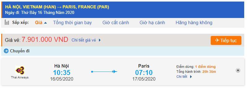 Giá vé máy bay Hà Nội Paris Pháp
