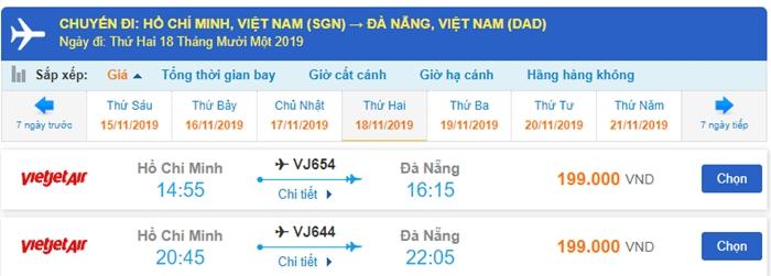 Vé máy bay giá rẻ đi Đà Nẵng tháng 11