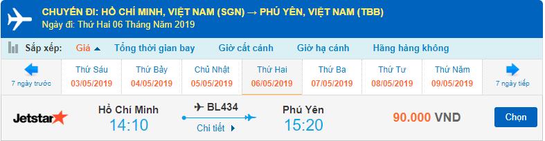 Vé máy bay đi Phú Yên Jetstar Pacific