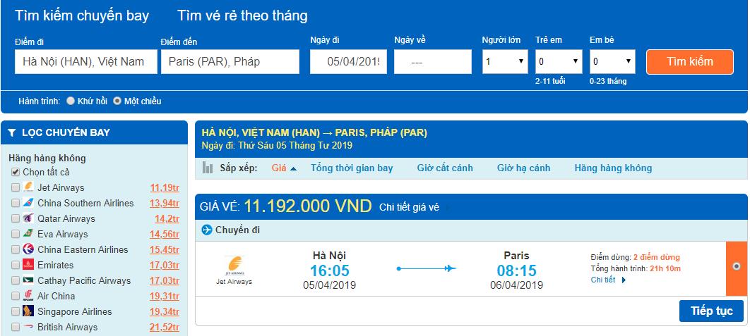 Giá vé máy bay từ Hà Nội đi pháp tại Aivivu.com