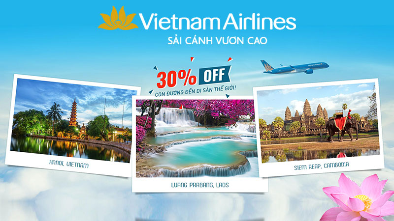 Vietnam Airlines Giảm 30% giá vé – con đường đến di sản