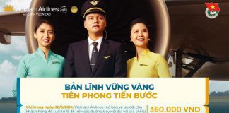 Ưu đãi từ Vietnam Airlines trong ngày 26/03 vé máy bay chỉ 360.000 VNĐ