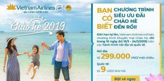 """Đếm ngược 10 ngày săn khuyến mãi """"Chào Hè 2019"""" từ Vietnam Airlines"""