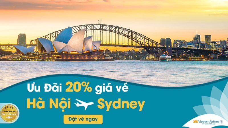 Khuyến mãi 20% giá vé từ Hà Nội - Sydney