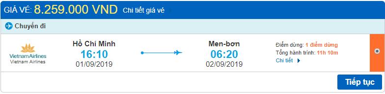 Giá vé Hồ Chí Minh đi Melbourne Vietnam Airlines
