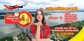 Khuyến mãi mừng lễ hội Songkran từ Vietjet với 1,1 triệu vé 0 đồng