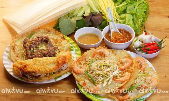 Bánh xèo tôm nhảy món ăn được du khách yêu thích khi đến Quy Nhơn