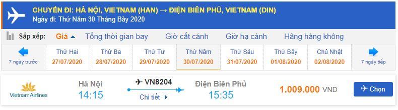 Vé máy bay Hà Nội Điện Biên giá rẻ