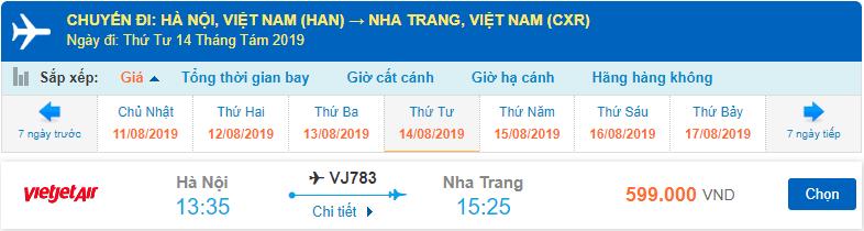 Vé máy bay Hà Nội Nha Trang Vietjet