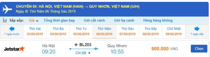 Vé máy bay Jetstar Hà Nội đi Quy Nhơn