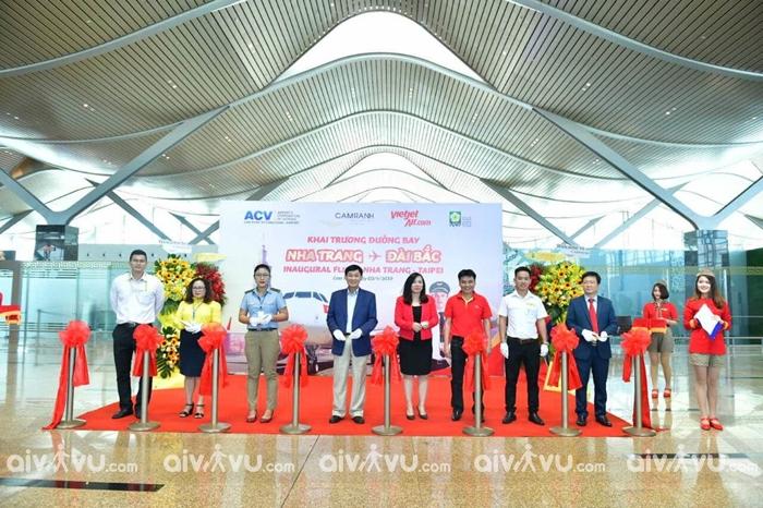 Khai trương đường bay mới từ Nha Trang đi Đài Bắc