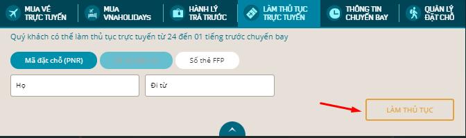 Để check online Vietnam Airlines nhanh chóng cần nhập đầy đủ thông tin