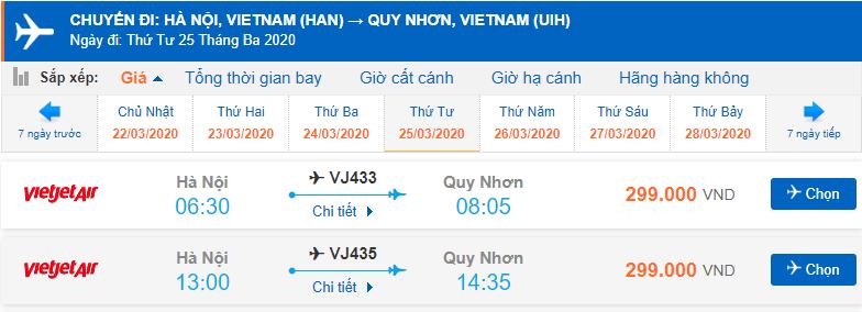 Vé máy bay Vietjet đi Quy Nhơn
