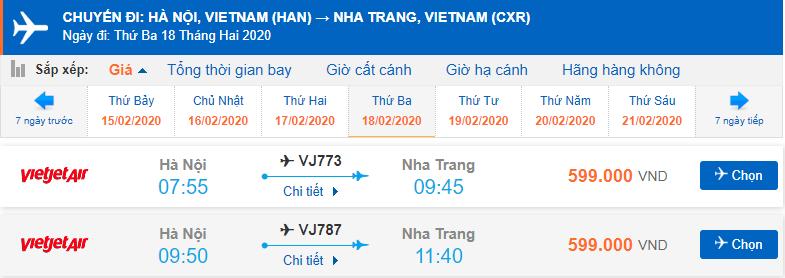 Giá vé máy bay đi Nha Trang Vietjet Air