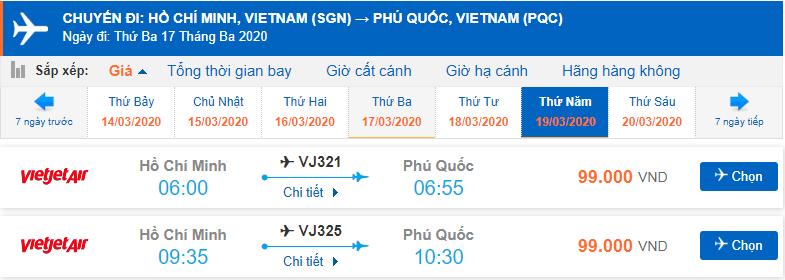 Vé máy bay đi Phú Quốc bao nhiêu tiền