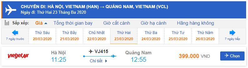 Vé máy bay đi Chu Lai Vietjet Air