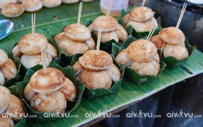 Ka Nom Kok món ăn ngọt được yêu thích tại Luang Prabang