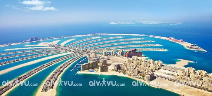 Cụm đảo Cây Cọ Palm Islands một trong công trình nhan tạo vĩ đại của Dubai