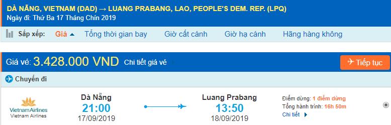 vé máy bay đi Luang Prabang từ Đà Nẵng