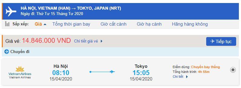 Vé máy bay Hà Nội đi Nhật Bản