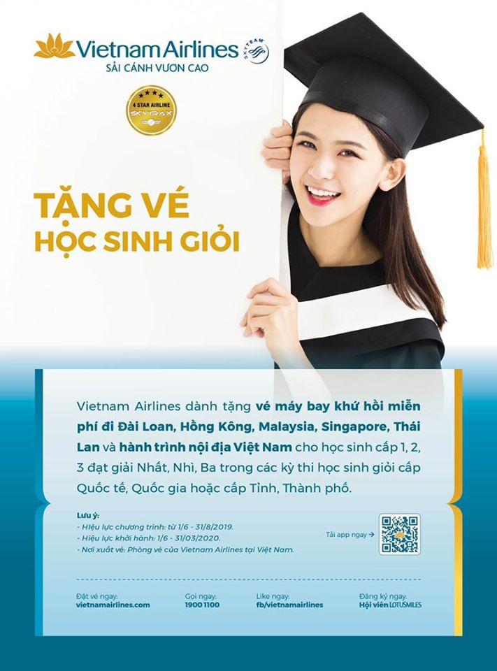 Tặng vé máy bay miễn phí cho học sinh giỏi