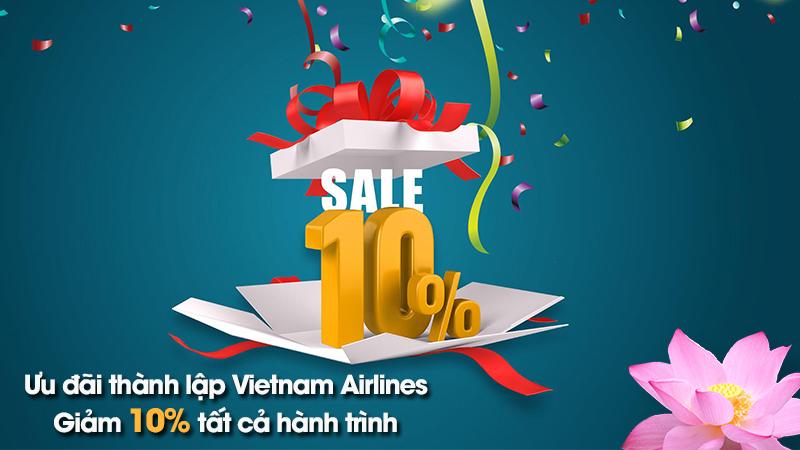 Vietnam Airlines khuyến mãi 10% giá vé kỷ niệm 24 năm thành lập