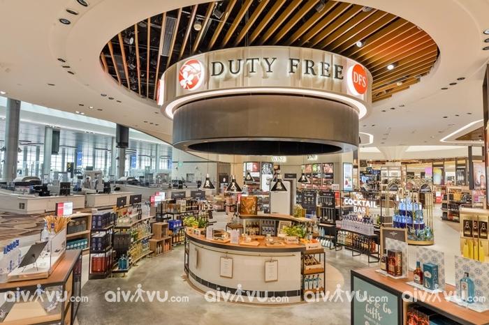 Cửa hàng mua sắm miễn phí tại sân bay Changi
