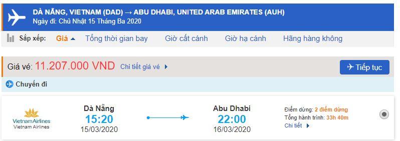 Vé máy bay đi Abu Dhabi giá rẻ từ Đà Nẵng