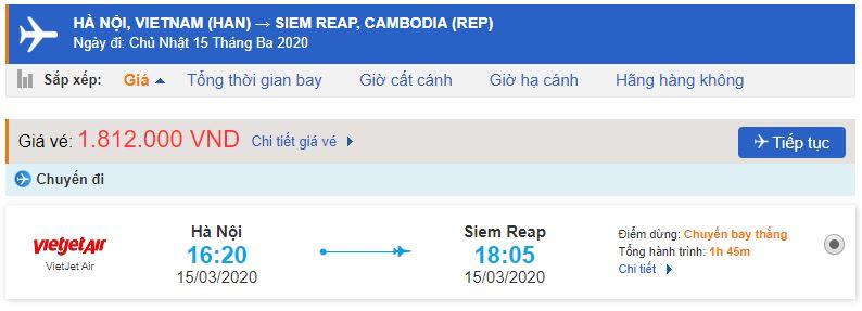 Vé máy bay đi Campuchia Vietjet Air