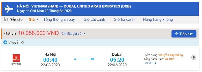 Vé máy bay Hà Nội Dubai