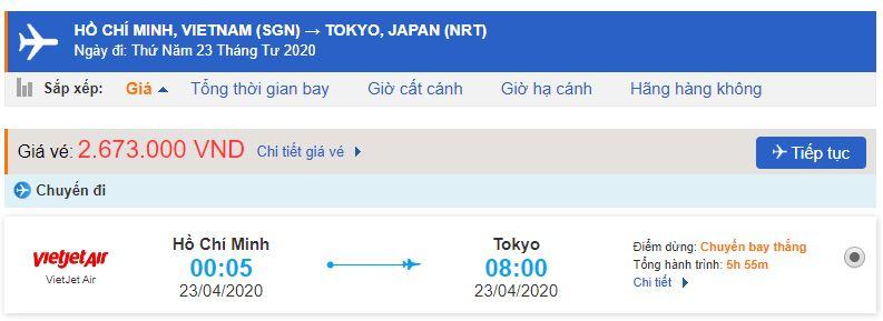 Giá vé máy bay đi Nhật Bản bao nhiêu tiền?