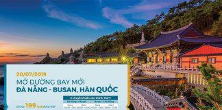 Khai trương đường bay Đà Nẵng – Busan chỉ 99 USD/ khứ hồi