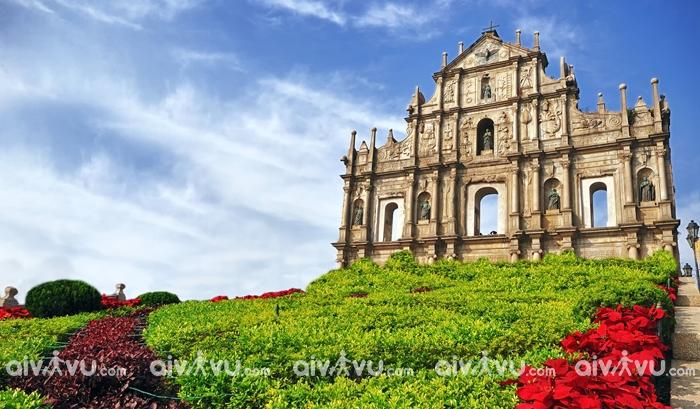 Nhà thờ thánh Paul công trình văn hóa đặc sắc ở Macau