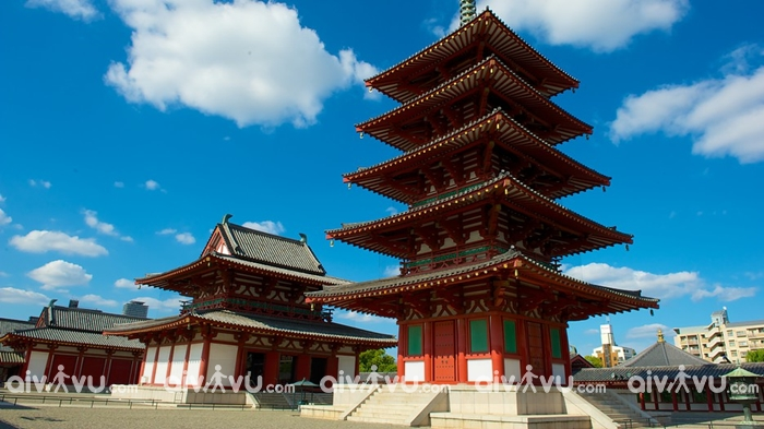 Chùa Shitennoji Osaka một trong những ngôi chùa lớn nhất Nhật bản