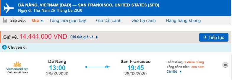 Vé máy bay đi Mỹ từ Đà Nẵng