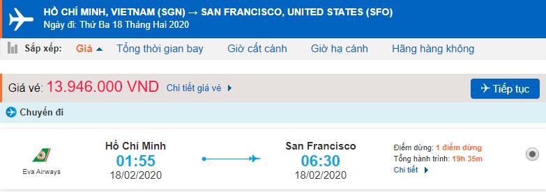 TP Hồ Chí Minh – San Francisco